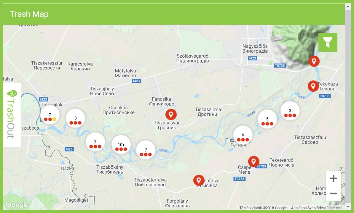 Waste monitoring on the Transcarpathian part of Tisza